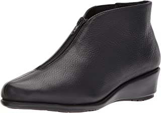 Aerosoles Women's Allowance Ankle Boot, Black Leather, 9 M US