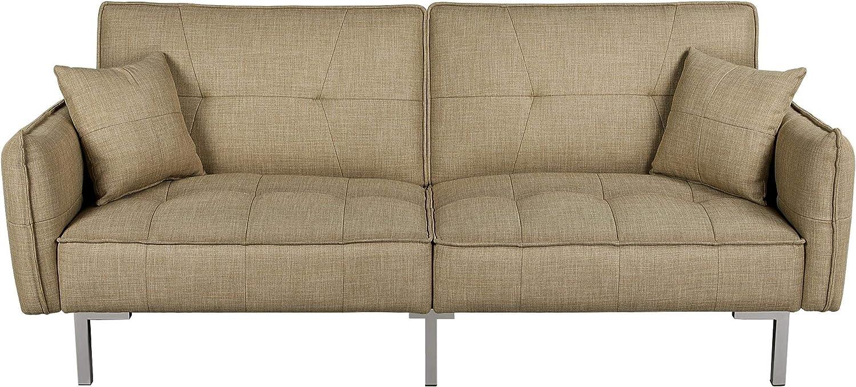 Yaheetech Living Room Furniture Set Convertible De Couch Futon w Elegant Bombing new work