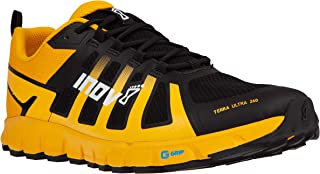 INOV-8 Mens Terraultra 260   Minimalist Trail Running Shoe   Zero Drop   Perfect for Long Distance Ultra Running   Yellow/Black M8.5/ W10