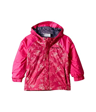Columbia Kids Fast and Curioustm II Rain Jacket (Toddler) (Haute Pink Invizza/Haute Pink Texture) Girl