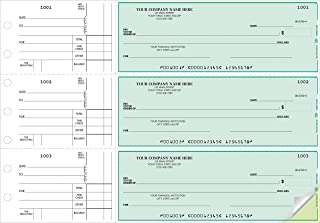 CheckSimple 3-Per-Page All-Purpose Manual Business Checks (2-Part) with Stub Voucher (1000 Checks) - Custom