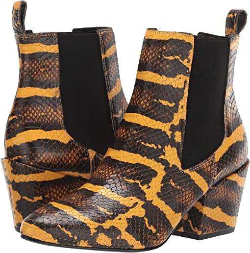 Yellow Snake Leather