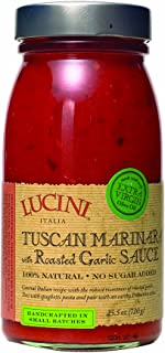 Lucini Tuscan Marinara with Roasted Garlic Sauce, glass, 25.5-Ounce (Pack of 3)