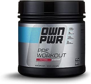 OWN PWR Pre Workout Powder, Fruit Punch, 30 Servings, Keto Friendly, 3G Creatine, 1.6G Beta Alanine (as CarnoSyn), 175 MG Caffeine & more