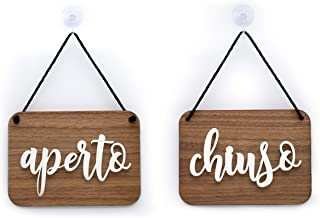 Ristorante o Negozio OC40 Ovale Shabby Chic Insegna per Porta vetrina Ingresso di Bar Pub Cartello Open//Closed a Rilievo 3DP Signs