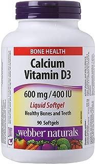 Webber Naturals Calcium with Vitamin D3, 600 mg/400 IU, 90 Liquid Softgels