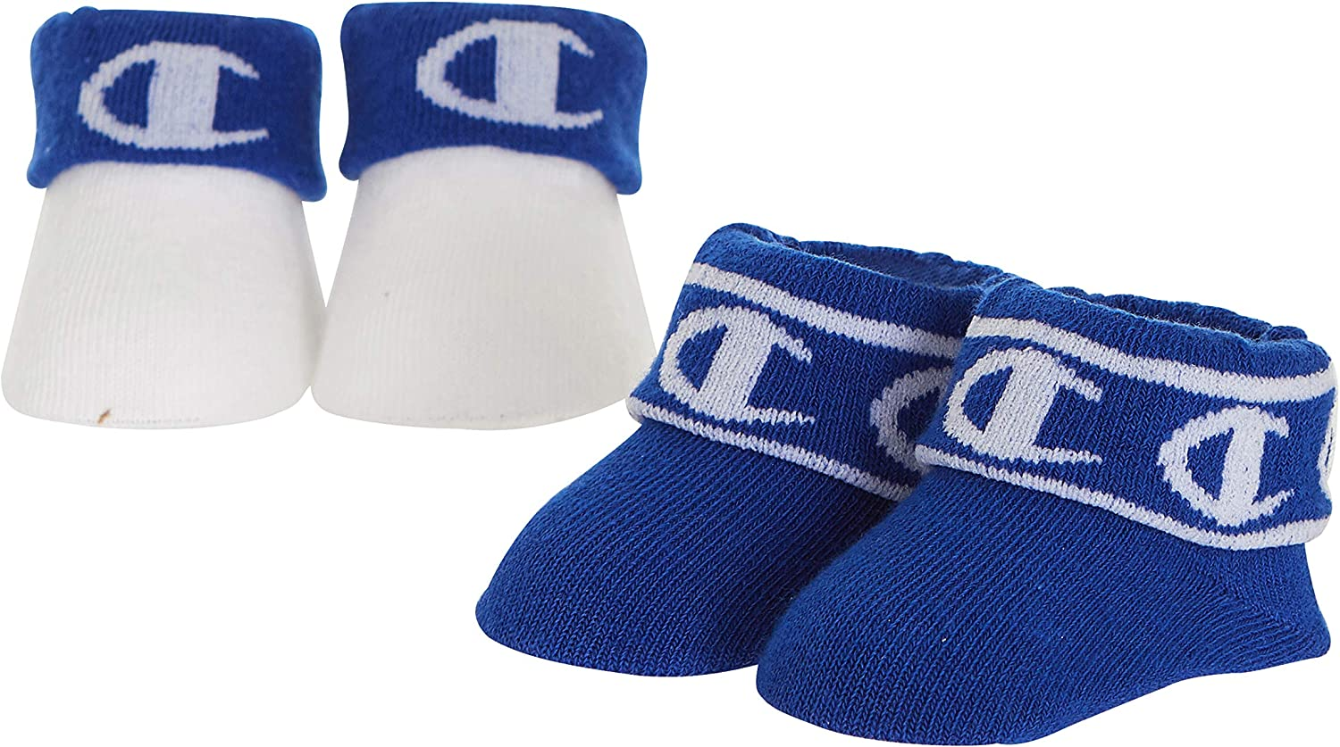 Champion Girl's 2-Pack Baby Booties in Gift Box Socks