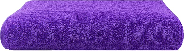 Bathe & Soak Microfiber Bath Towel, 70x140 cms, Large, 250 GSM (Purple)