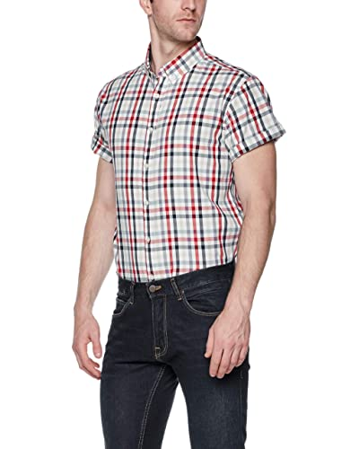 6ea730540 Black and Red Plaid Shirt: Amazon.com