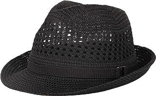 WITHMOONS 帽子 夏用涼しいコットンメッシュ中折れ帽 メンズ DW61203