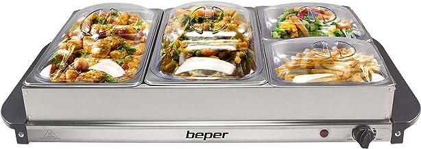 BEPER P101TEM001 Chauffe-Plat Buffet, Acier/Plastique, Gris métallisé