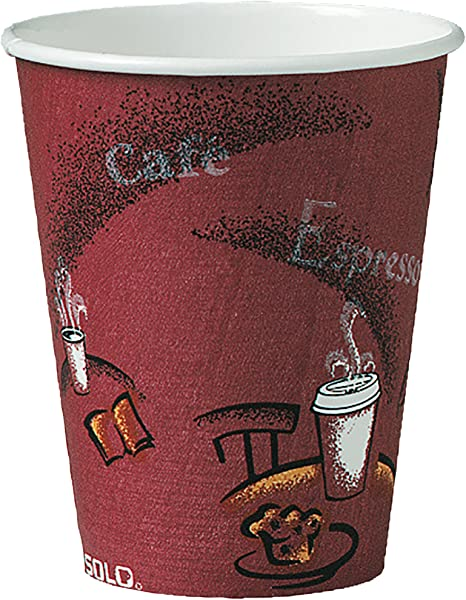Solo 378SI 0041 8 Oz Bistro SSP Paper Hot Cup Case Of 1000