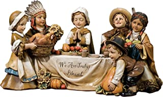 Joseph's Studio by Roman We are Truly Blessed Pilgrim Kids Harvest 10.5 x 5 Inch Table Top Figurine