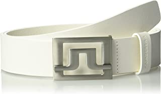 J.Lindeberg Men's Slater 40 White Leather Golf Belt