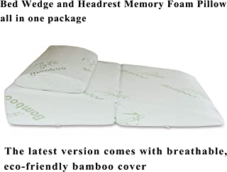 "InteVision Folding Bed Wedge Pillow (32"" x 25"" x 6.5"") & Headrest.."