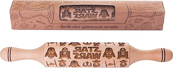 Star wars Rolling Pin Embossing wood engraved gift idea for Baking and Cookies 11.8