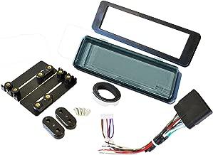 Mount Radio Stereo Install Kit Fits HARLEY DAVIDSON FLHT Dash Kit w/Harness AND Smoked SPLASHGUARD Tint