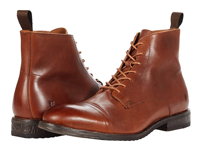 1920s Style Mens Shoes | Peaky Blinders Boots Frye Grant Lace-Up $327.95 AT vintagedancer.com