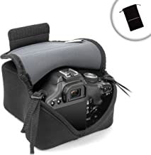 USA Gear Protective DSLR Camera Case Sleeve Holster with Scratch Resistant Protective Neoprene Fabric and Accesory Pocket - Compatible with Canon EOS Rebel T6, T6i and T6s