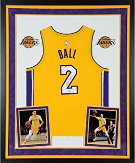Lonzo Ball Los Angeles Lakers Deluxe Framed Autographed Nike Gold Swingman Jersey - Fanatics Authentic Certified