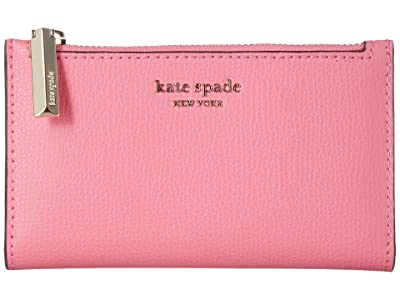 Kate Spade New York Small Slim Bifold Wallet (Hibiscus Tea) Wallet Handbags