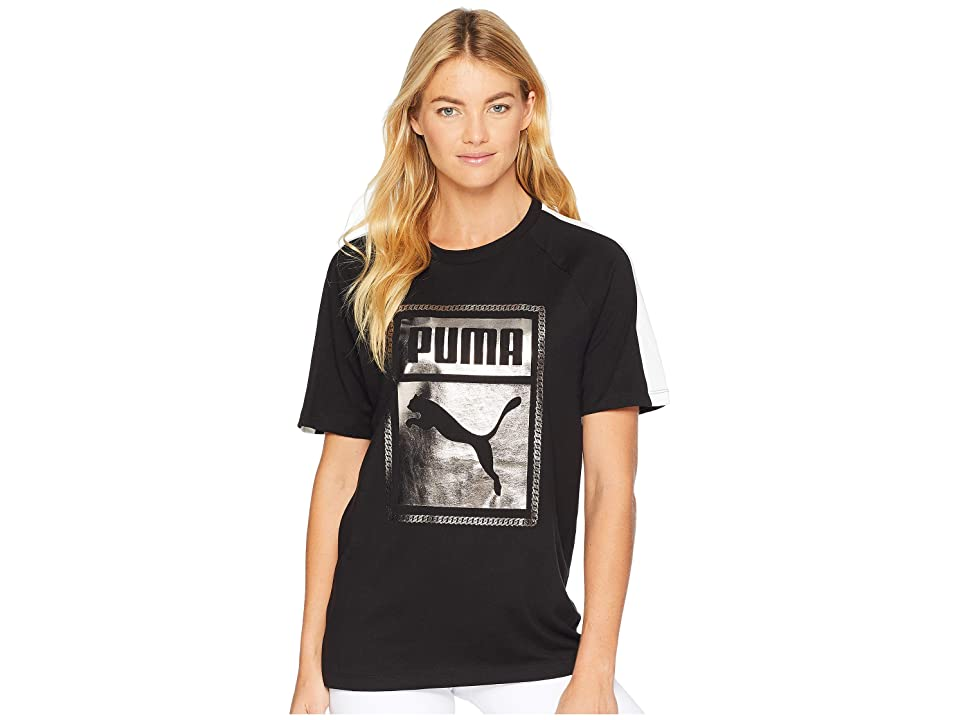 PUMA T7 Chains Tee (Cotton Black) Women