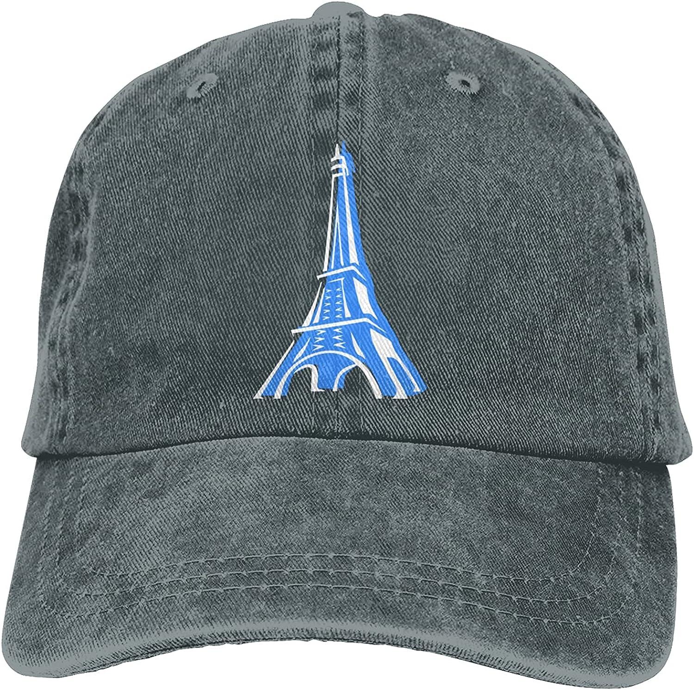 Eiffel Tower Paris Baseball Cap Trucker Hat Retro Cowboy Dad Hat Classic Adjustable Sports Cap for Men&Women Deep Heather
