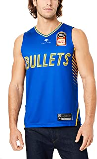 First Ever Men's Brisbane Bullets V Neck Home Authentic Jersey