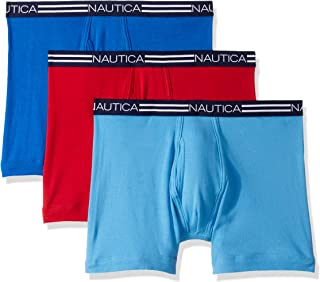 Nautica Mens Men's Classic Cotton Boxer Brief Multi Pack Boxer Briefs