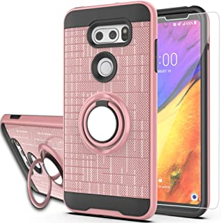 LG V35 Case,LG V35 ThinQ / V30 / LG V30S / LG V30 Plus Case with HD Phone Screen Protector,Ymhxcy 360 Degree Rotating Ring...