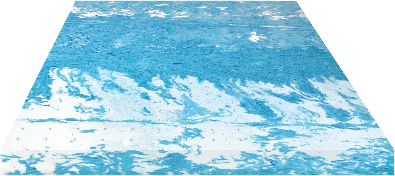 BioPEDIC 4  Gel Swirl Memory Foam Mattress Topper, Twin