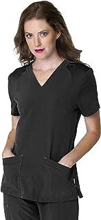 2 Pocket, Contemporary Slim Fit, Super Stretch, V-Neck Medical Scrub Top S101005