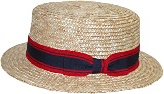 Jeanne Simmons Straw 2 Inch Brim Grosgrain Band Boater Hat