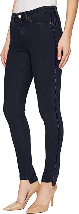 Ivanka Trump - Denim Step Hem Pants in Dark