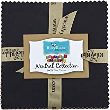 "Confetti Cottons Neutral 5"" Stacker 42 5-inch Squares Charm Pack Riley Blake Designs 5-NE120-42"