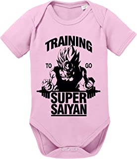 Tee Kiki Goku SS Dragon Son Baby Ball Strampler Bio Baumwolle Body Jungen & Mädchen 0-12 Monate