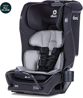 Diono Radian 3QX Latch, All-in-One Convertible Car Seat, Black Jet