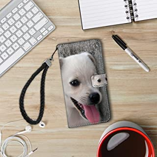 Wallet Case Fits for iPhone 8 Plus (2017) and iPhone 7 Plus (2016) Animal Dog Puppy #239870 with Coin Slot