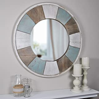 Firstime Co.Cottage Timbers Mirror - Blue/Antique White 27