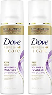 Dove Champú seco para cabello graso volumen y plenitud para cabello renovado 5 oz 2 unidades