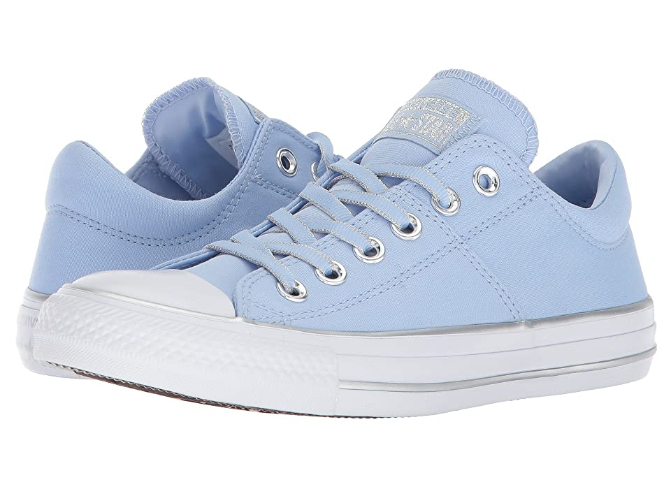 Converse Chuck Taylor(r) All Star Pearlized Pinstripe Ox (Blue Chill/Silver/White) Women