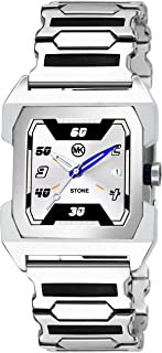 MKSTONE Party Analog Silver Dial Men's Watch -222