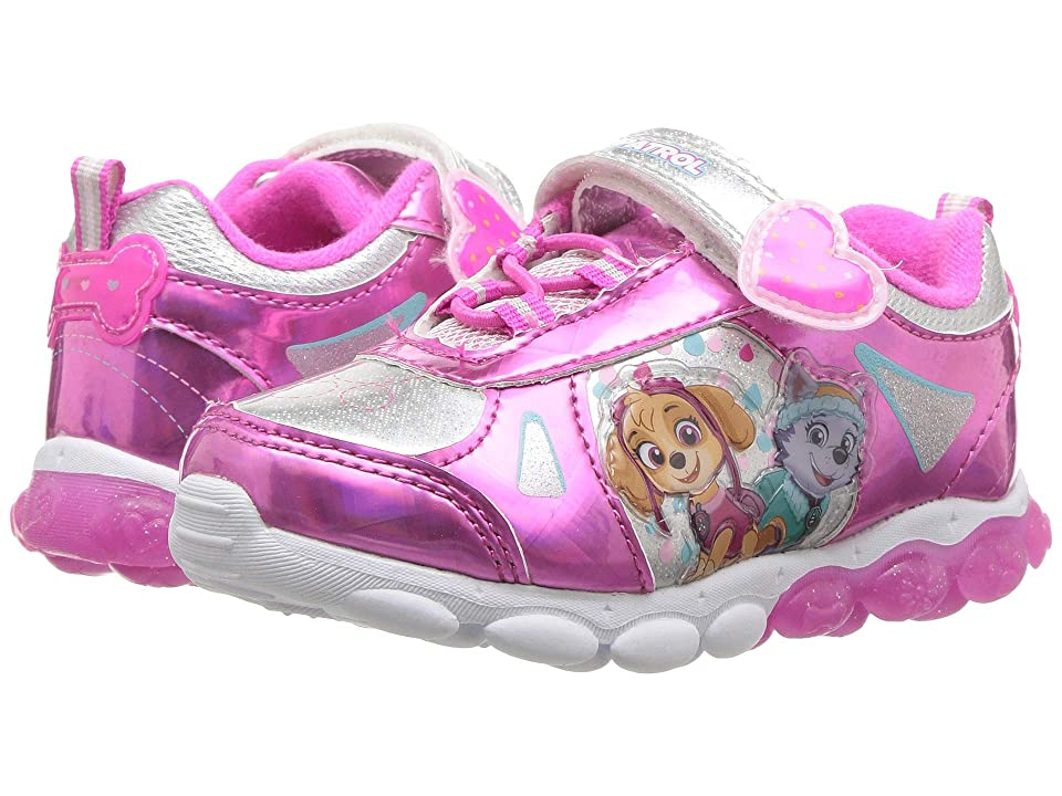 Josmo Kids Paw Patrol Lighted Button Sneaker (Toddler/Little Kid) (Pink/Silver) Girls Shoes