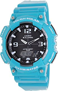 Casio #AQ-S810WC-3AV Men's Teal Solar Analog Digital World Time Sports Watch