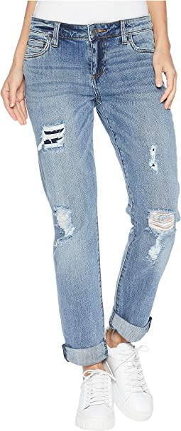 Catherine Boyriend Cut Out Back Pocket Jeans in Excellent