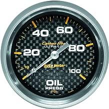 Auto Meter 4821 Carbon Fiber Mechanical Oil Pressure Gauge