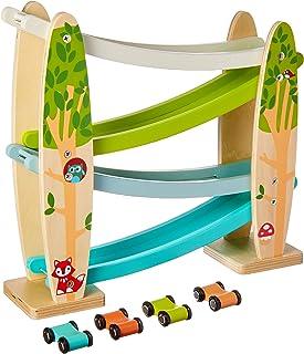 Applesauce Wooden Pull Toys Infant Development Educational Baby Toys (Car Ramp)