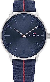 Tommy Hilfiger Herren Analog Quarz Uhr mit Nylon Armband 1791844