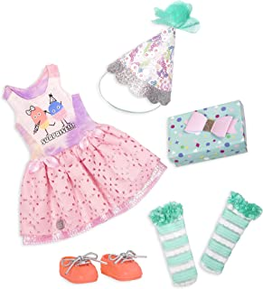 """Glitter Girls by Battat – What A Surprise! – 14"""" Deluxe Birthday Party Doll Outfit – Toys, Clothes, & Accessories for Girl..."""