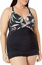 Profile by Gottex Women's Plus-Size Racerback V-Neck Swimdress One Piece Swimsuit